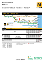 Metro timetable Manors