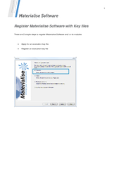 Register Materialise Software with Key files
