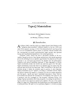 Type-Q Materialism Pete Mandik, William Paterson University and  Josh PDF document - DocSlides