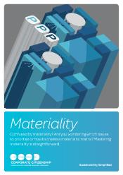 MaterialityConfused by materiality? Are you wondering which issues to