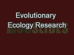 Evolutionary Ecology Research