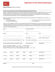 Application for NonMatriculating Status PDF document - DocSlides