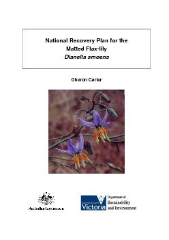 National Recovery Plan for the PDF document - DocSlides
