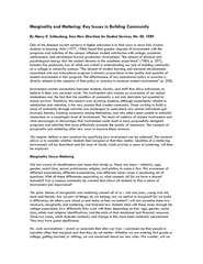 Marginality and Mattering: Key Issues in Building Community PDF document - DocSlides