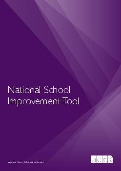 National School Improvement Tool ISBN  hardcopy  PDF The National School Improvement Tool tool was developed by the Australian Council for Educational Research for the Commonwealth Department of Educa
