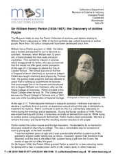 Sir William Henry Perkin (1838-1907): the Discovery of AnilinePurpleTh PDF document - DocSlides