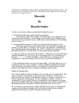 The following is a highlighted summary of the book, Maverick, publishe PDF document - DocSlides