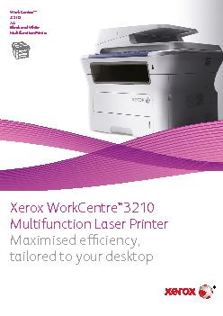 WorkCentre™Black and White Multifunction Printer PDF document - DocSlides