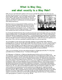 What is May Day, PDF document - DocSlides