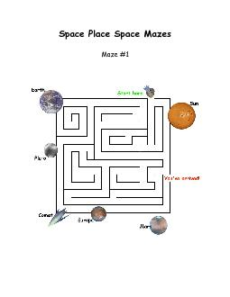Space Place Space Mazes  Maze #1 PowerPoint PPT Presentation