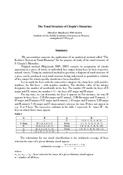 The Tonal Structure of Chopin PDF document - DocSlides