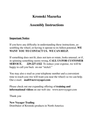 Kromski MazurkaWANT  YOU TO CONTACT US.  WE CAN HELP. CALL US FOR CUST PDF document - DocSlides