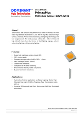 Super high brightness surface mount LED