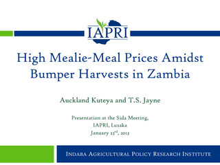 Indaba Agricultural Policy Research Institute PDF document - DocSlides