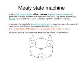 Mealy state machine PDF document - DocSlides