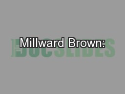 Millward Brown: