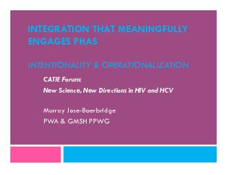 INTEGRATION THAT MEANINGFULLY ENGAGES PHASINTENTIONALITY & OPERATIONAL