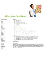Meatless is used in: