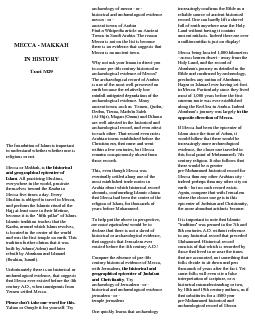 MECCA - MAKKAHIN HISTORYTract M29The foundation of Islam is importantt PDF document - DocSlides