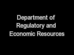 Department of Regulatory and Economic Resources PDF document - DocSlides