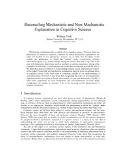 Reconciling Mechanistic and Non