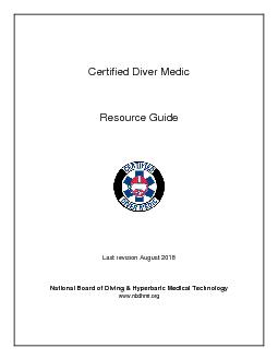 Certified Diver Medic PDF document - DocSlides