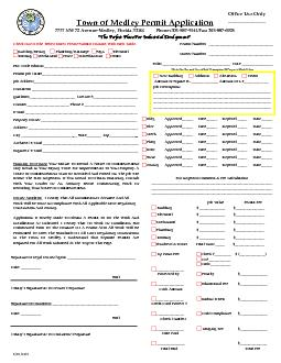 Medley Permit Application PDF document - DocSlides