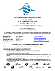 Eastern Zone Southern Region Sectional Meet PDF document - DocSlides