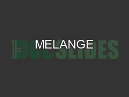 MELANGE TOWER PDF document - DocSlides