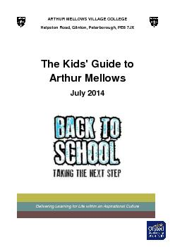 ARTHUR MELLOWS VILLAGE COLLEGE PDF document - DocSlides