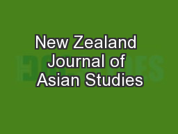 New Zealand Journal of Asian Studies PDF document - DocSlides