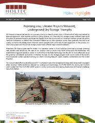 Page of Reprising 2014: Ukraine Projects Menaced;Underground Drytorage PDF document - DocSlides