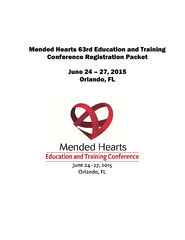 Mended Hearts welcomes you to sunny Orlando for the 63 Annual Conferen