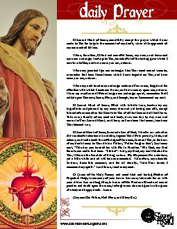 O Sacred Heart of Jesus, mercifully accept the prayer which I now make PDF document - DocSlides