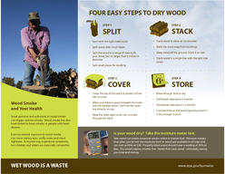 Four Easy Steps to Dry Firewood STEP  SPLIT STEP  STACK STEP  COVER STEP  STORE Clean and E cient Heating Checklist Burning dr  rewood can save mone and protect ou and our famil s health
