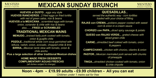 MEXICAN SUNDAY BRUNCH