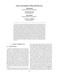 Bischoff et al.:Nature and Origins of Meteoritic Breccias