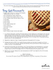 Berry-Apple Mincemeat