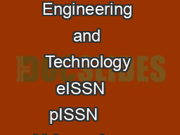 IJRET International Journal of Research in Engineering and Technology eISSN    pISSN       Volume  Issue   Mar   Available  httpwww