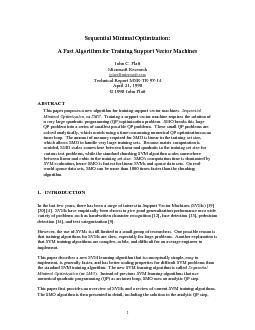 Sequential Minimal Optimization:A Fast Algorithm for Training Support