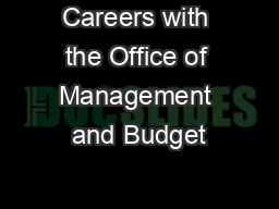 Careers with the Office of Management and Budget