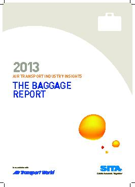 AIR TRANSPORT INDUSTRY INSIGHTSTHE Baggage report2013