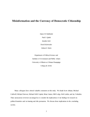 1Misinformation and the Currency of Democratic CitizenshipJames H. Kuk
