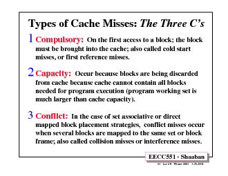 EECC551 - Shaaban#1   Lec # 8   Winter 2001    1-30-2002Types of Cache