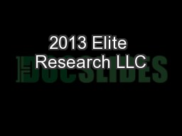 2013 Elite Research LLC