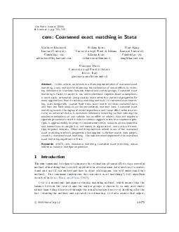 The Stata Journal   Number  pp