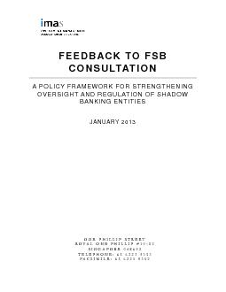 FEEDBACK TO FSB CONSULTATION  A POLICY FRAMEWORK FOR STRENGTHENING  ..