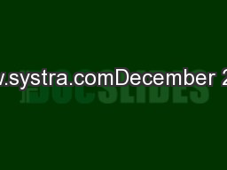 www.systra.comDecember 2013
