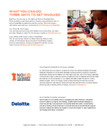 FINDINGS FROM DELOITTE ANALYSIS ENDING CHILDHOOD HUNGER A SOCIAL IMPACT ANALYSIS NO KID HUNGRY STARTS WITH BREAKFAST No Kid Hungry Starts With Breakfast According to new analysis released by Share Our