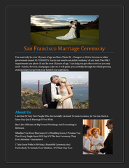 San Francisco Marriage Ceremony PowerPoint PPT Presentation
